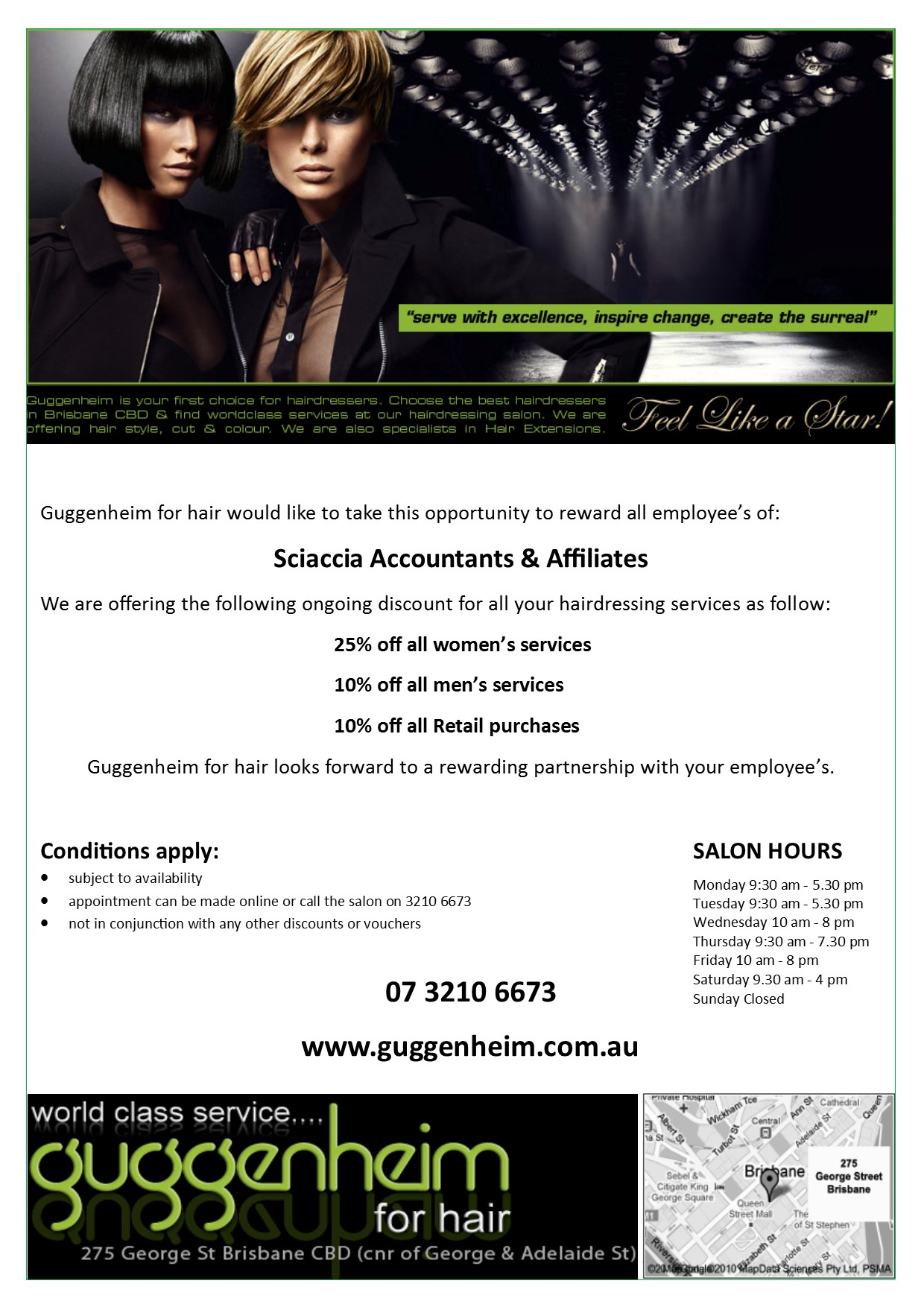 Email Flyer for Sciaccia Accountants & Affiliates