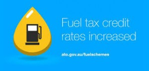 February fuel tax credit rates change
