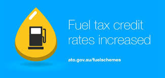 Fuel tax credit rates change